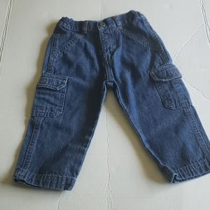 Care Blue Cargo Boy Pocket Jeans
